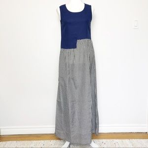 Misslook Gingham Loose Sleeveless Maxi Dress Small